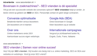 Google Ads tekst advertentie