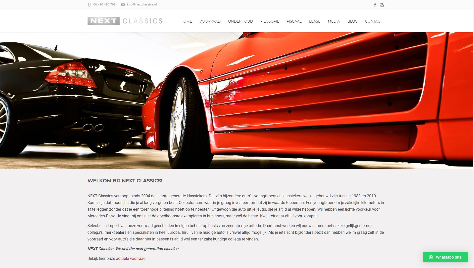 NextClassics nieuwe WordPress website door SEO vrienden